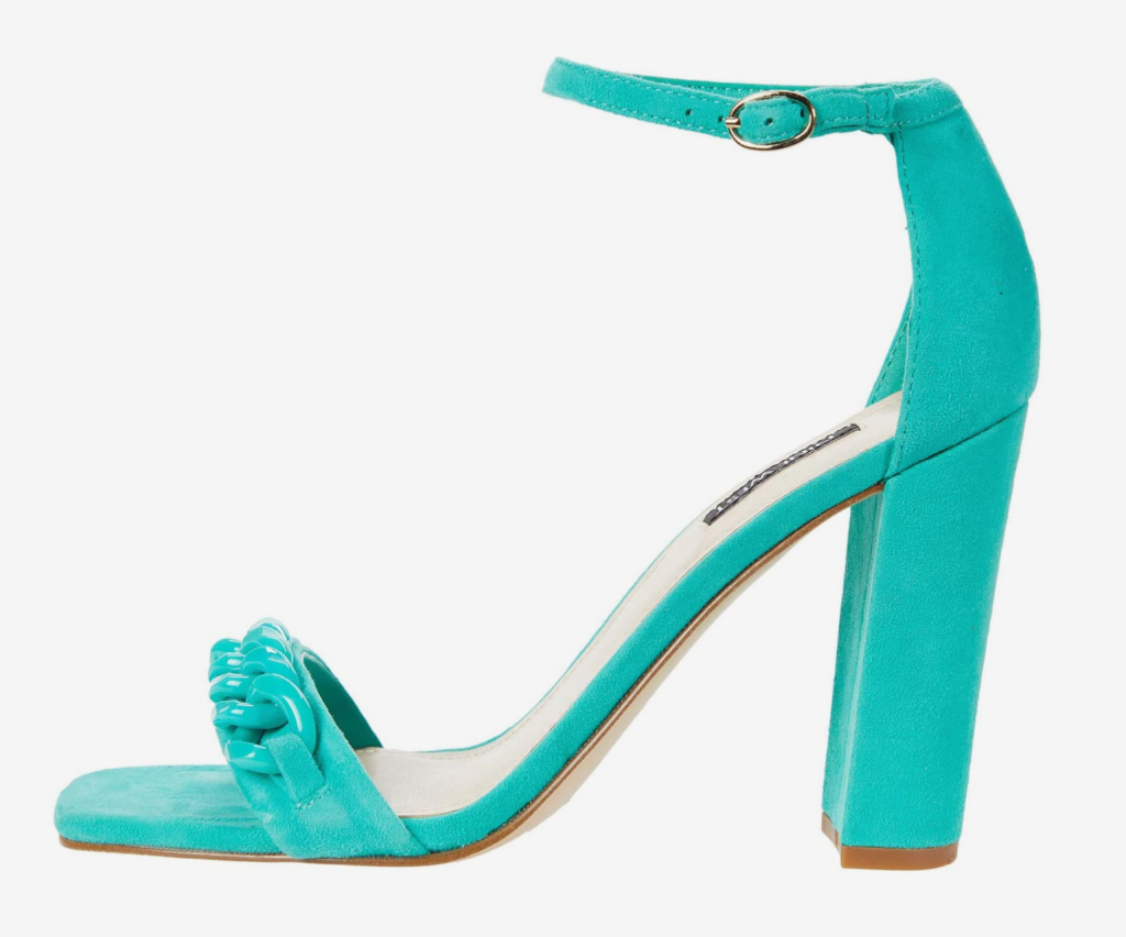 Nine West, sandals, green sandals