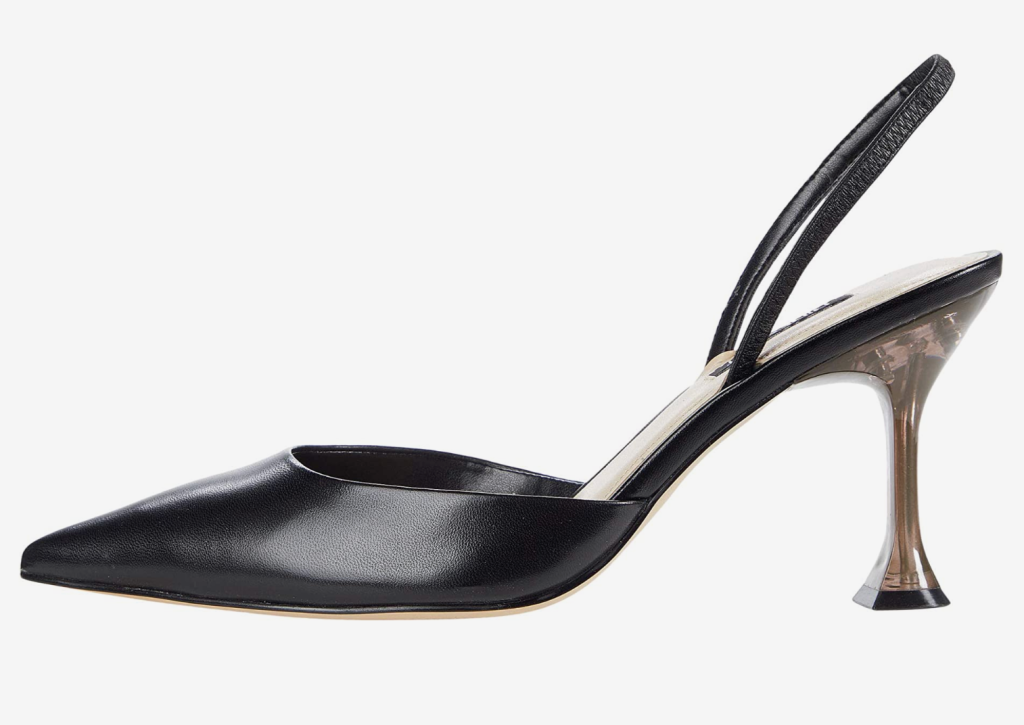 black pumps, slingback, heels,black pumps, slingback, heels, nine west