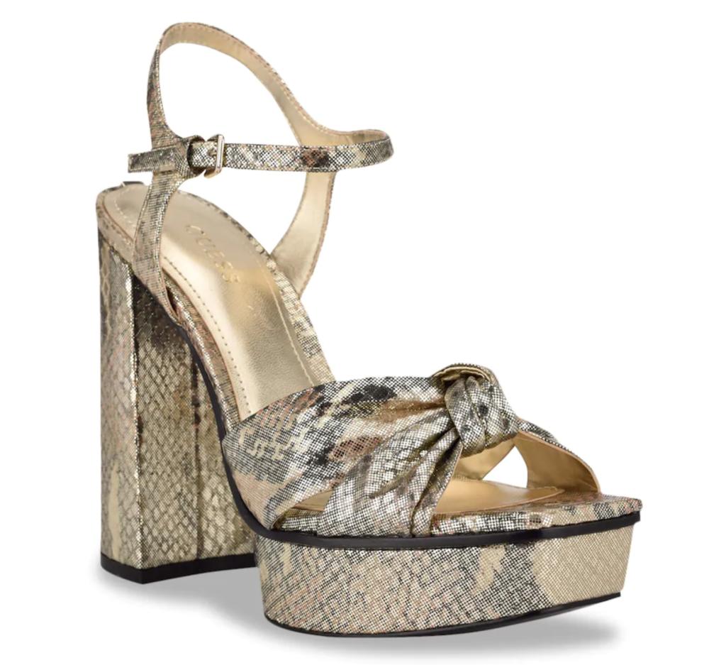 Guess, gold sandals