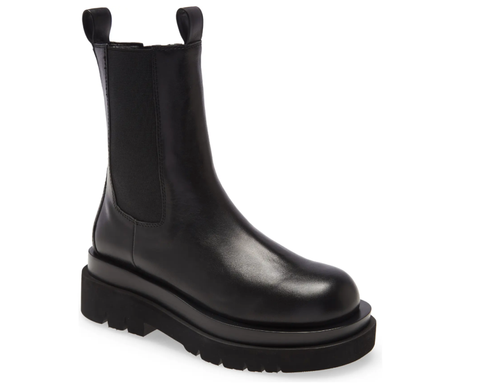 black boots, leather, chunky, jeffrey campbell