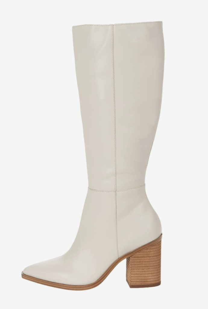 Steve Madden, boots, knee high boots, white boots