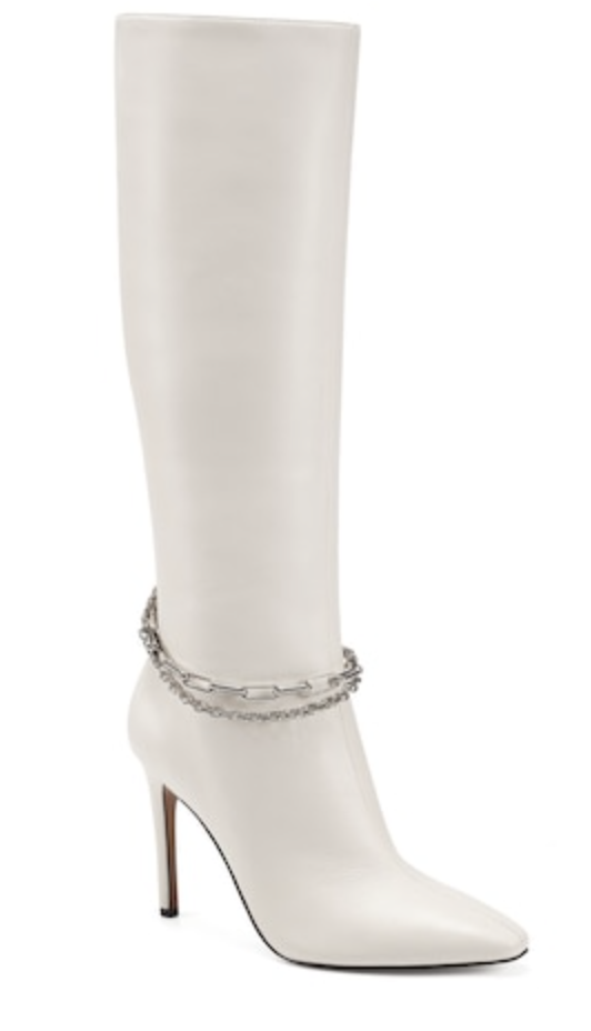 Vince Camuto, boots, knee high boots, white boots