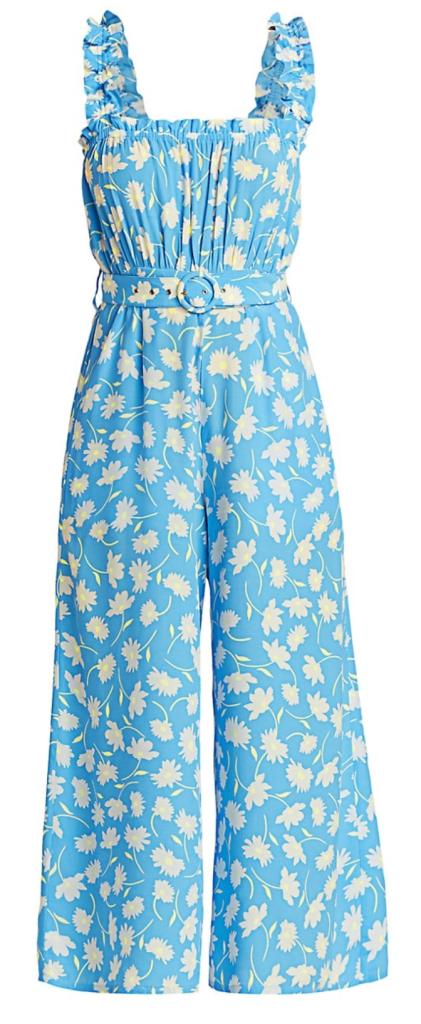 Faithfull the Brand, jumpsuit, blue jumpsuit, floral jumpsuit