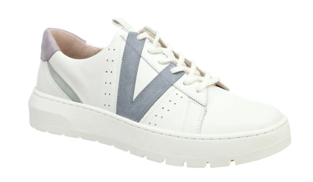 sneakers, blue, white, vionic