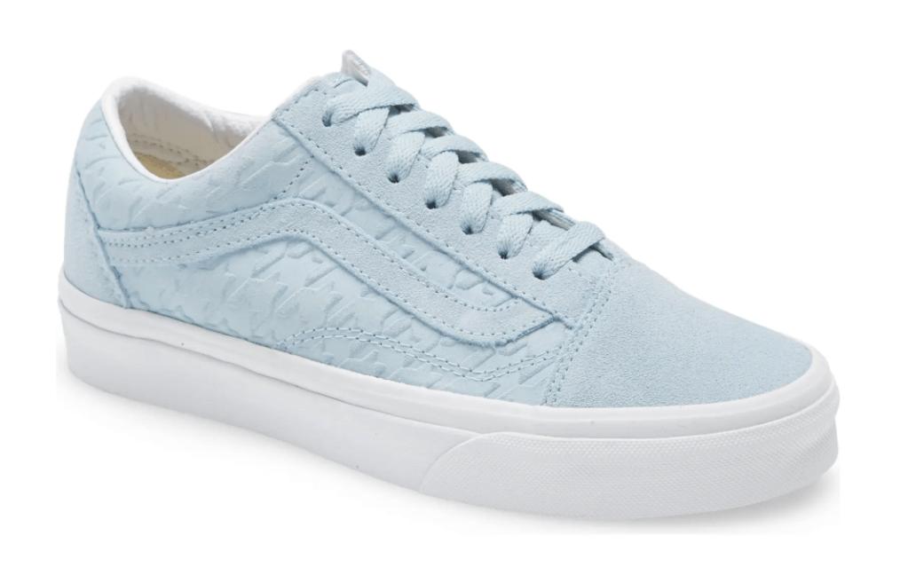 sneakers, blue, white, vans