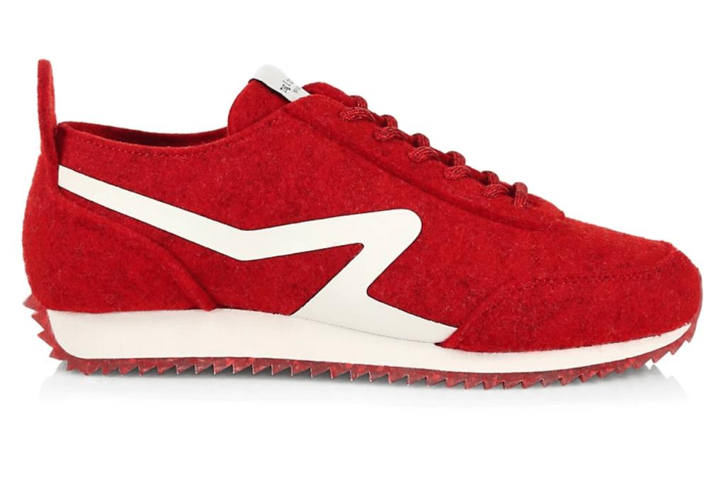 Rag & Bone, red sneakers, athletic sneakers, retro sneakers