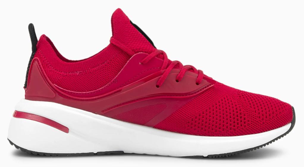 Puma, red sneakers, athletic sneakers