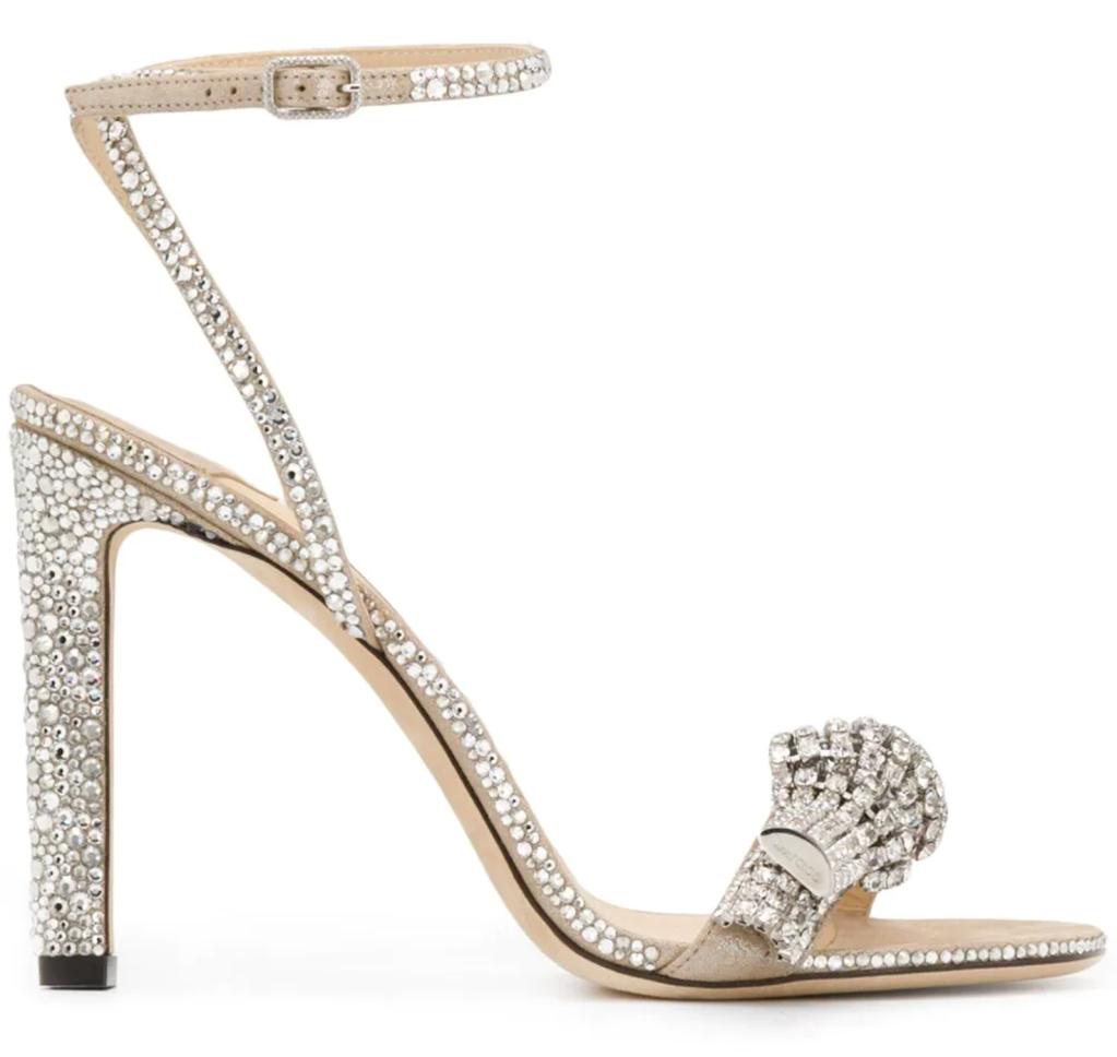 Jimmy Choo, crystal sandals, ankle-strap sandals