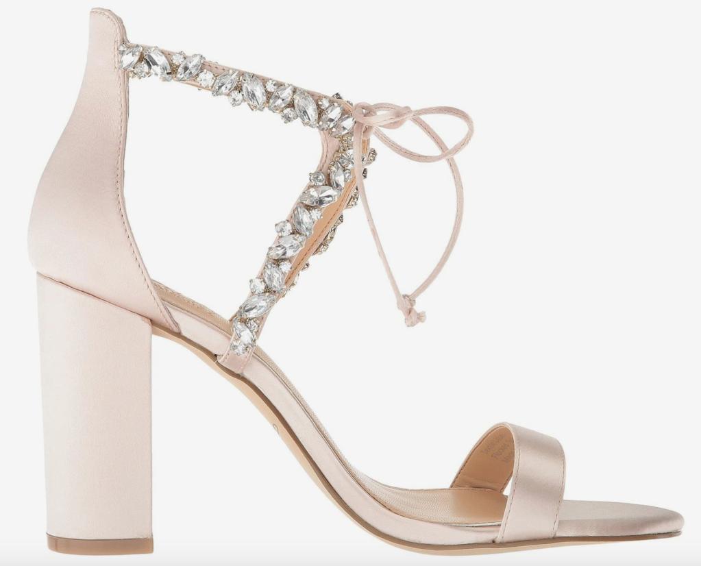 Jewel Badgley Mischka, sandals, crystal sandals