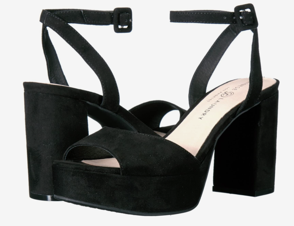 black platforms, sandals, heels, chinese laundry