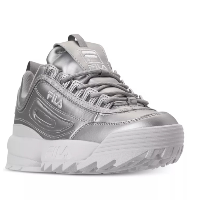 Fila Women's Disruptor II Premium Metallic Casual Athletic Sneakers