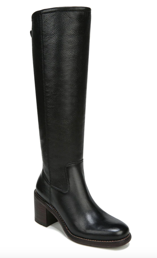Franco Sarto, black boots, leather boots, knee-high boots