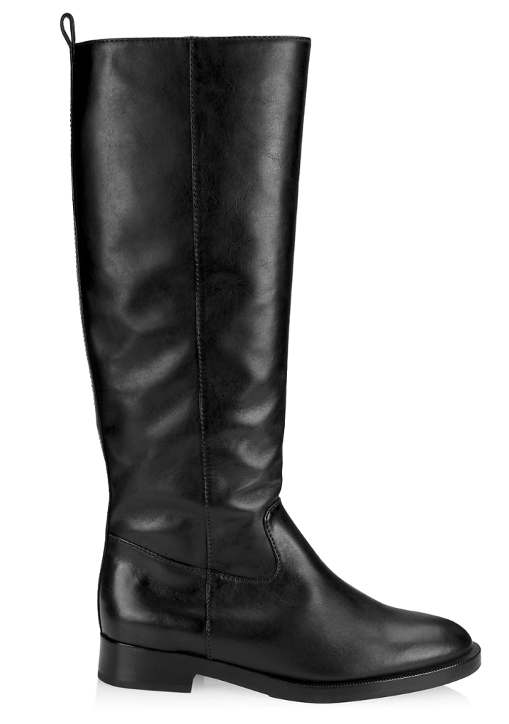 Schutz, black boots, leather boots, knee-high boots
