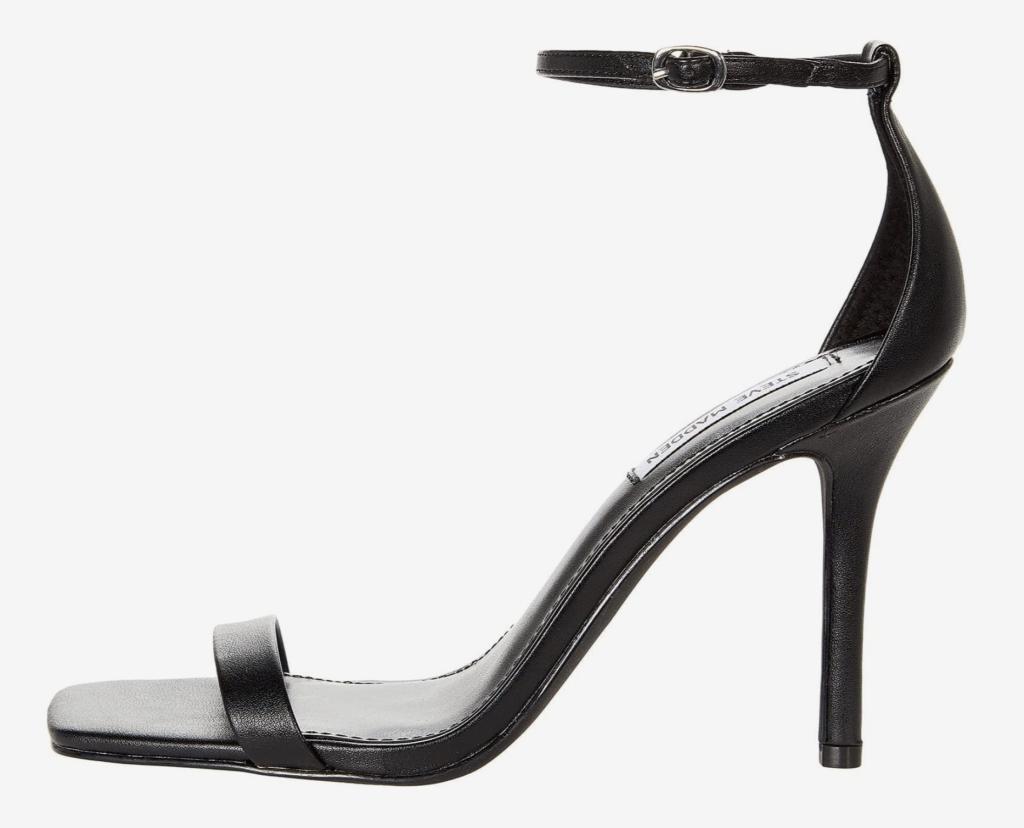 Steve Madden, sandals, black sandals, heeled sandals, ankle-strap sandals