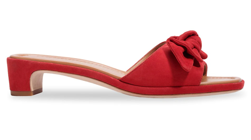 Kate Spade New York, mules, red mules, heeled mules