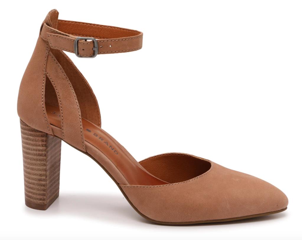 Lucky Brand, pumps, brown pumps, block heel pumps, Marcelinia