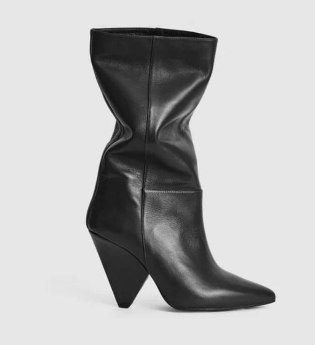 Jax leather calf length boots