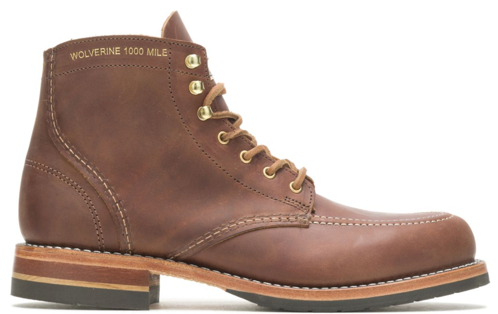 Wolverine, Old Rip Van Winkle Distillery, Batch 2, lace-up boots, men's boots, leather boots, 1000 Mile boots.