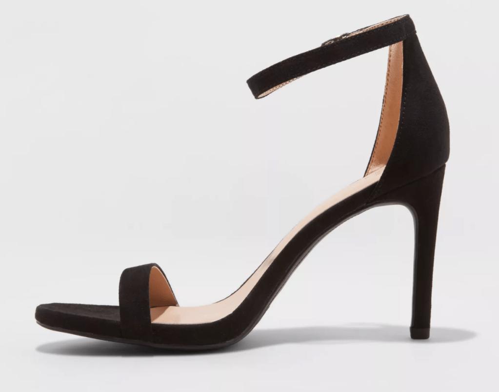 target, sandals, heels, black