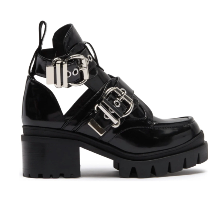 Lug Sole Open Ankle Boot