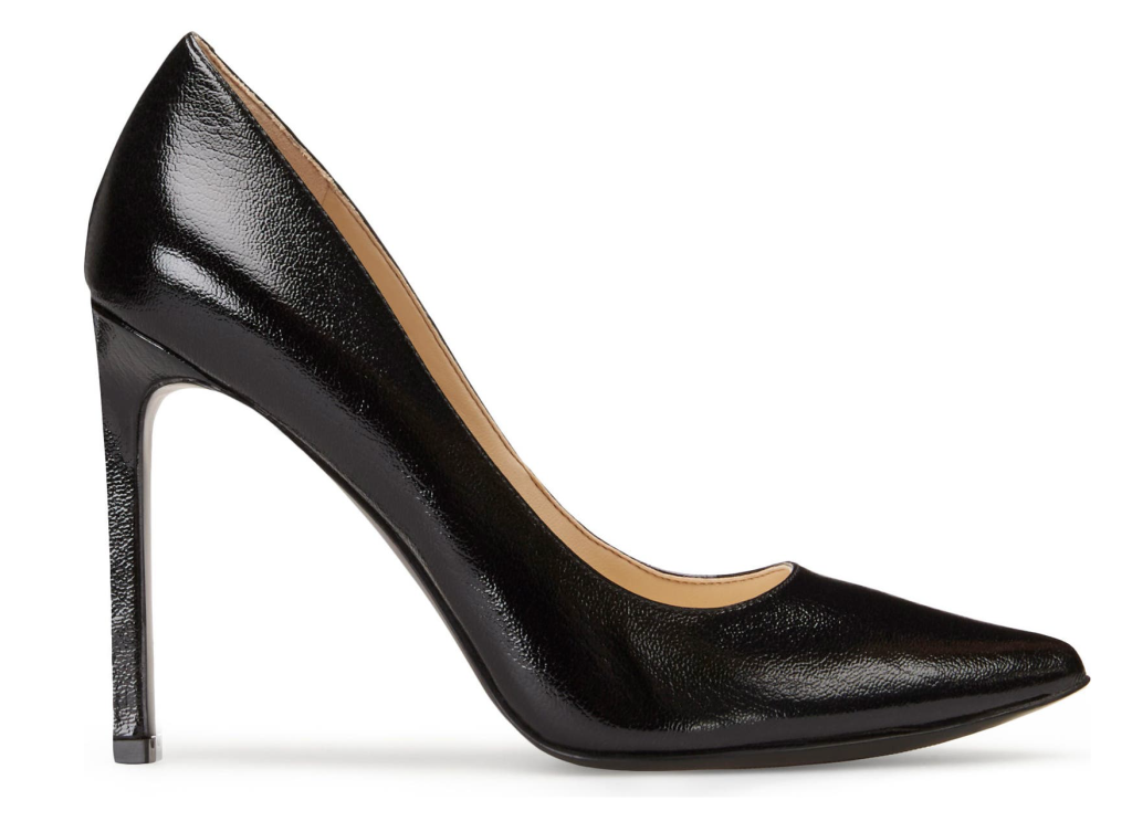 Nine West, black pumps, pointed-toe pumps, leather pumps