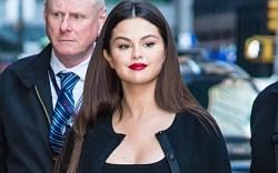 Selena Gomez, saint laurent amber sandals,