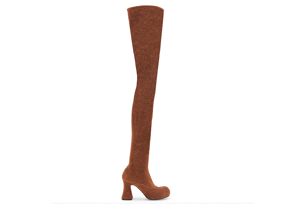 Stella McCartney Groove Lurex Tricot Over-The-Knee Boots