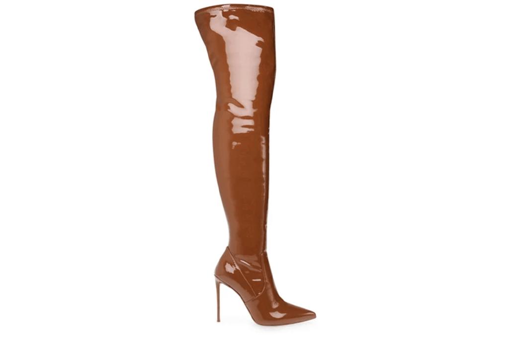 Steve Madden Cognac Patent Boots
