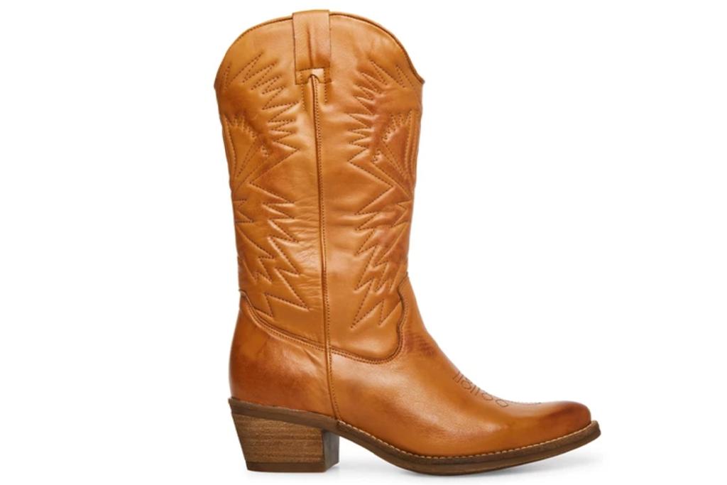 Steve Madden Hayward Leather Tan Boots