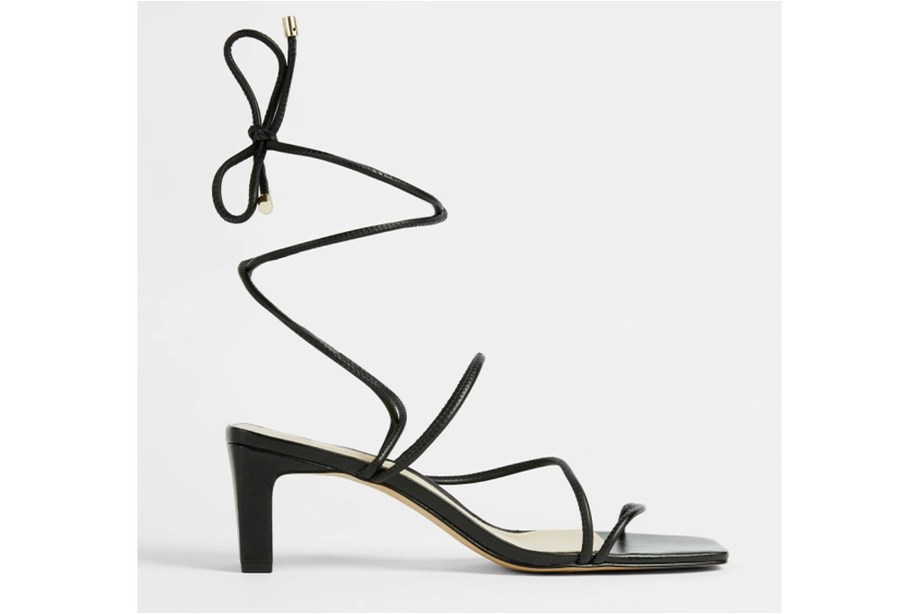 Ted Baker Teffip Square Toe Spaghetti Strap Mid Heel Sandals