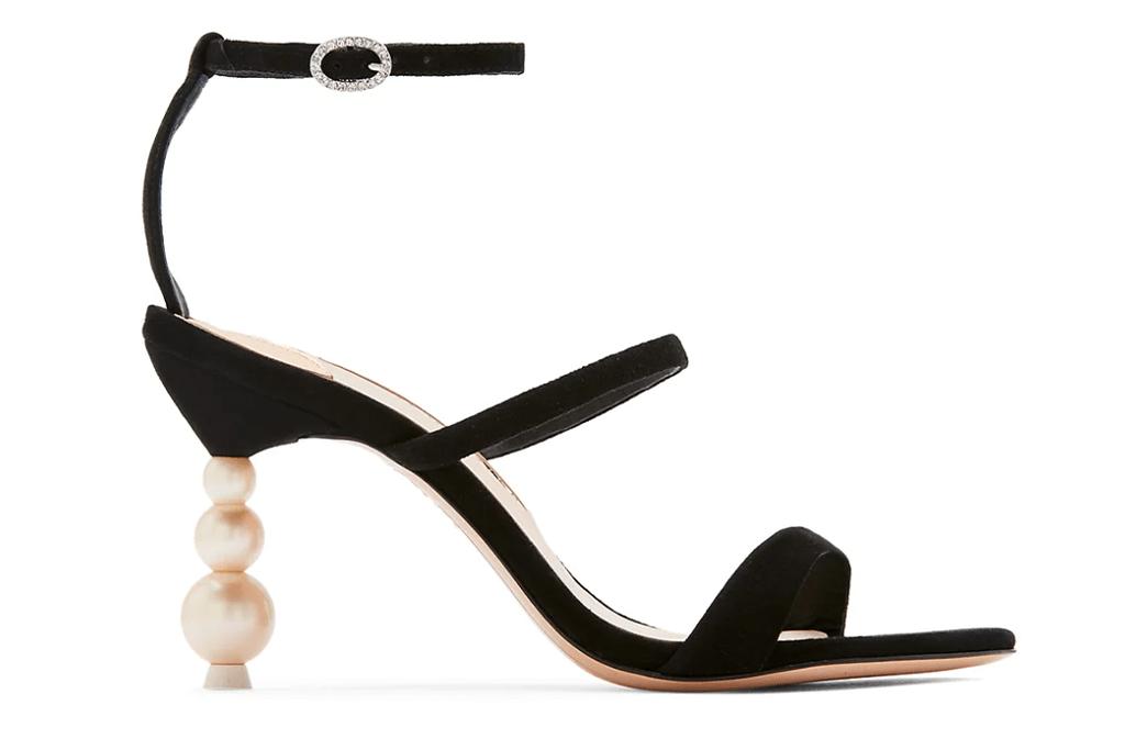 Sophia Webster Rosalind Pearl-Heel Suede Sandals