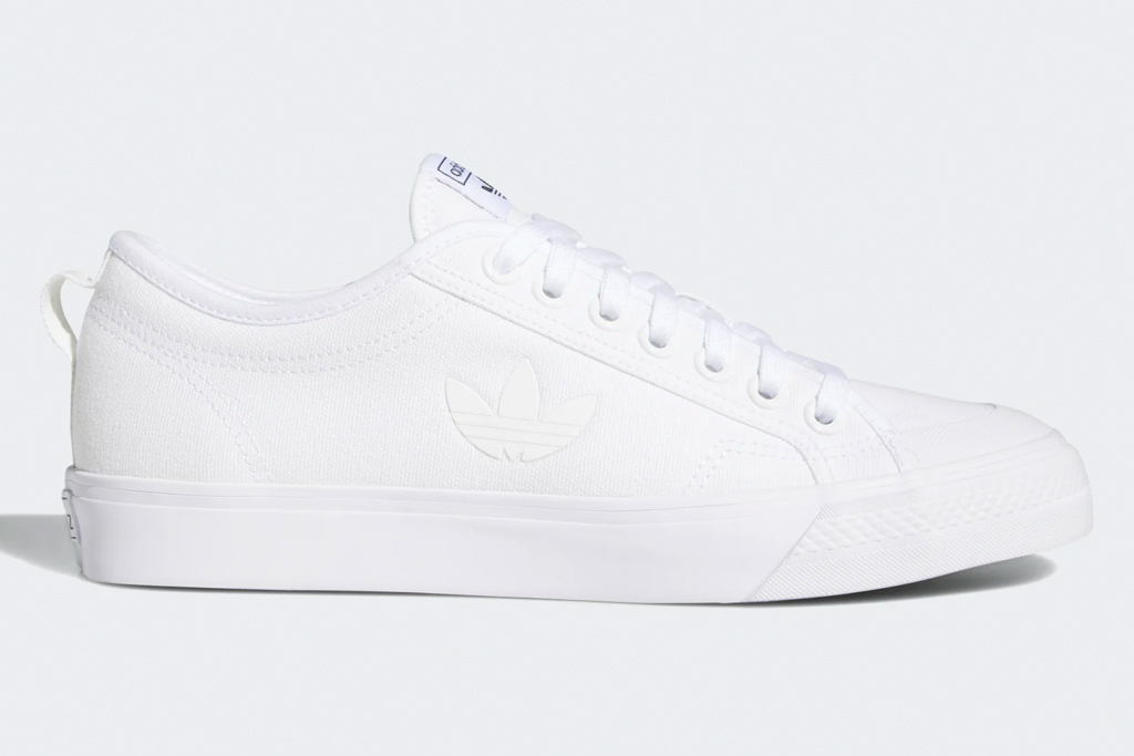 adidas sneakers, white, low top