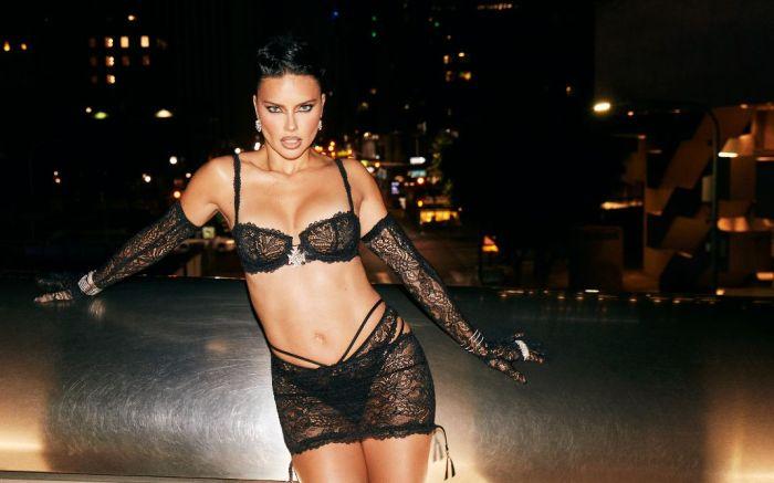 adriana lima, bra, bralette, lace skirt, thong, savage x fenty, show, runway, model, victorias secret