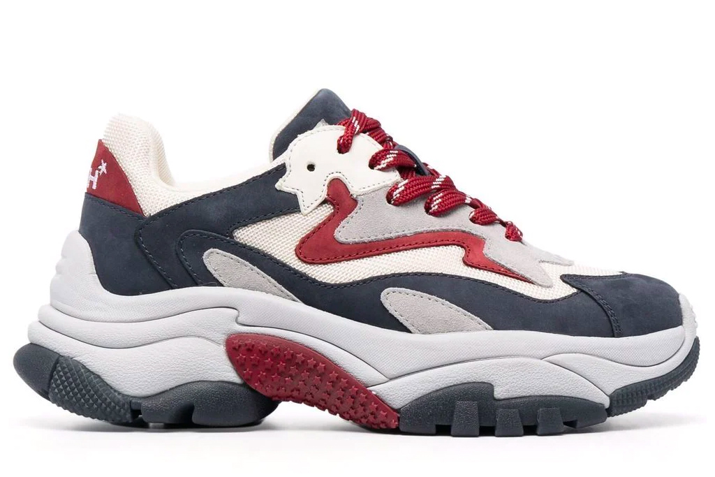 chunky sneakers, blue, ash