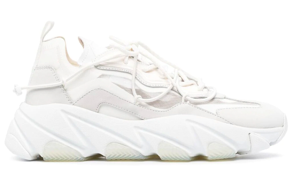 chunky sneakers, white sneakers, ash