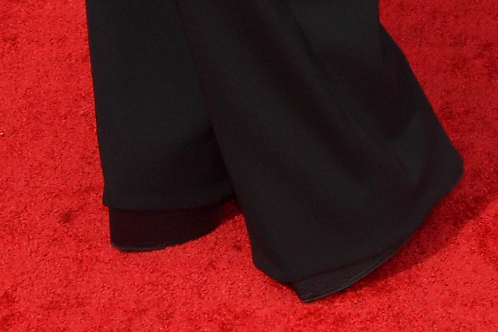 billy porter, wings, black outfit, emmys, 2021, emmy awards, la, necklace, heels, boots