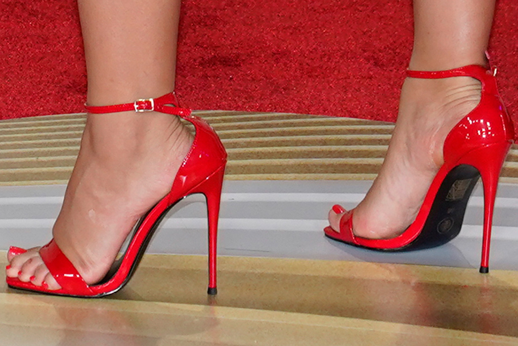 camila cabello, red dress, red heels, latin music awards, host, red carpet, outfit