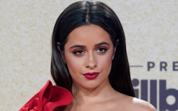 camila cabello, red dress, red heels,