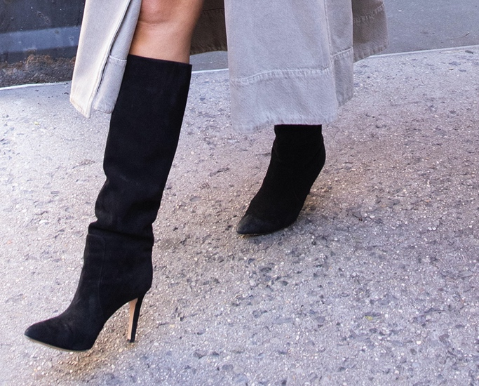 chrissy teigan, slouchy boots, nyc