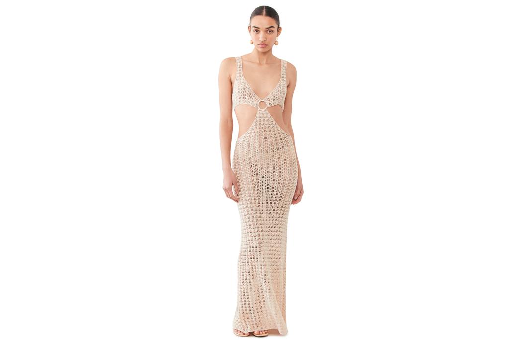 fishnet dress, nude, tan, cult gaia