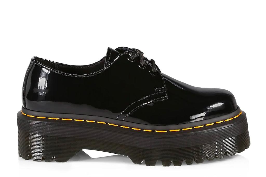 black brogues, platform shoes, leather, dr martens