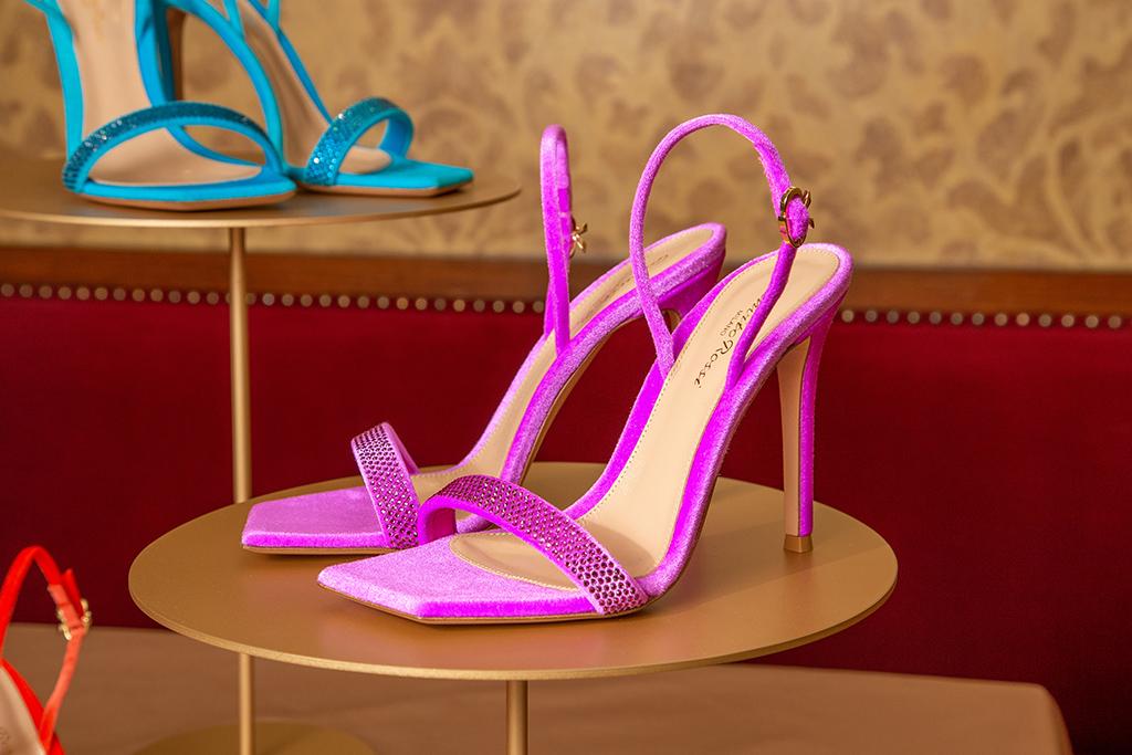 Gianvito Rossi, sandal, chenille