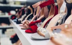 High Heel Shoes on Shelves