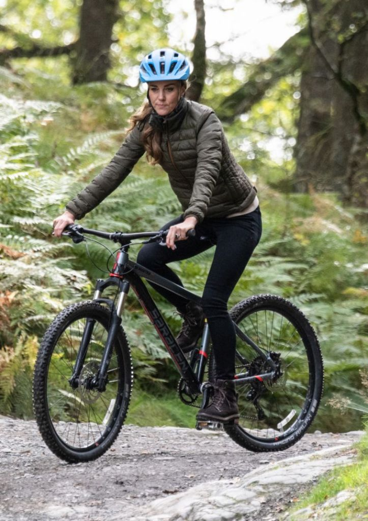 kate middleton, skinny jeans, jacket, boots, see by chloe, combat boots, rock climbing, biking, Windermere Adventure Training Centre