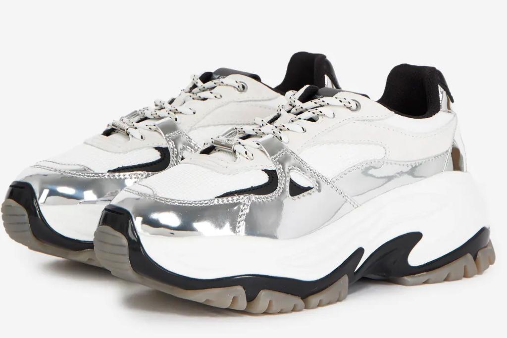chunky sneakers, blue, the kooples