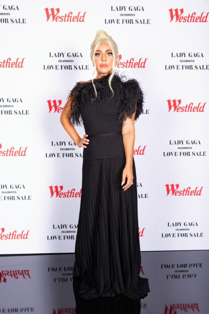 lady gaga, gown, dress, heels, pumps, black dress, sheer dress, pumps, blonde, tony bennett, new york
