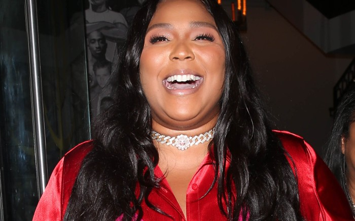 Lizzo was all smiles as she was seen leaving dinner at Catch Restaurant in West Hollywood, CA