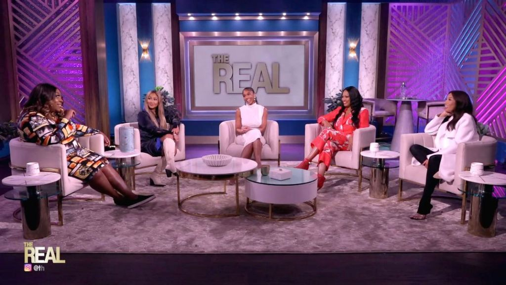 lori harvey, bodycon dress, dress, hair, heels, the real, interview, michael b jordan, outfit