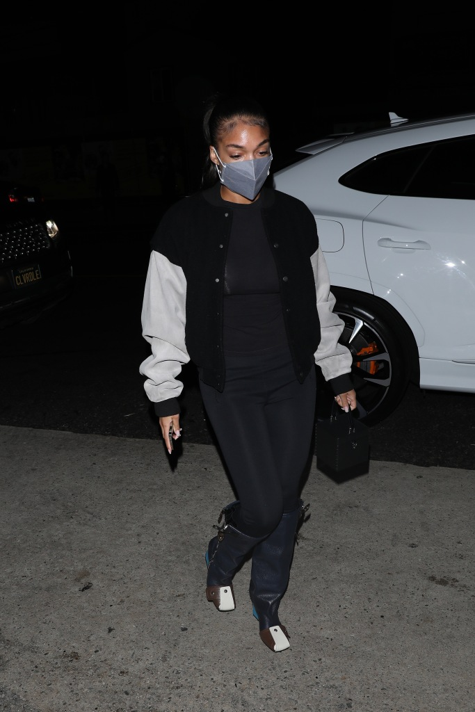 louis vuitton patti boots, A stylish Lori Harvey heads to Giorgio Baldi for dinner with her parents in Santa Monica. Steve Harvey and wife Marjorie Harvey were also in attendance at the dinner. 04 Sep 2021 Pictured: Lori Harvey. Photo credit: Photographer Group/MEGA TheMegaAgency.com +1 888 505 6342 (Mega Agency TagID: MEGA783820_002.jpg) [Photo via Mega Agency]