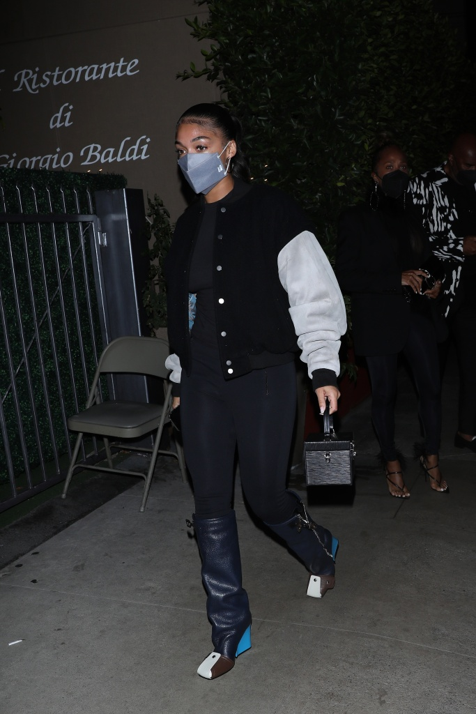 louis vuitton boots, A stylish Lori Harvey heads to Giorgio Baldi for dinner with her parents in Santa Monica. Steve Harvey and wife Marjorie Harvey were also in attendance at the dinner. 04 Sep 2021 Pictured: Lori Harvey. Photo credit: Photographer Group/MEGA TheMegaAgency.com +1 888 505 6342 (Mega Agency TagID: MEGA783820_002.jpg) [Photo via Mega Agency]